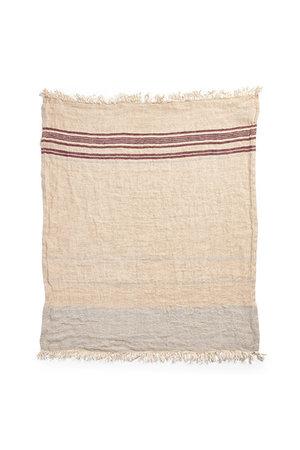 Libeco The Belgian towel - fouta - camel stripe