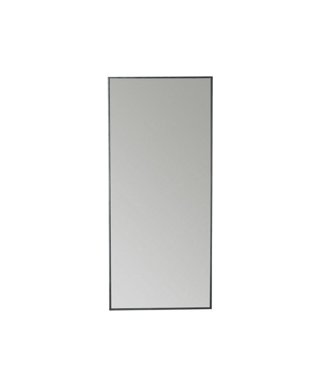 Spiegel metalen frame 180cm - zwart