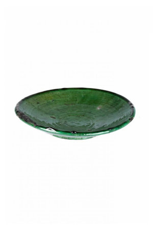 Couleur Locale Tamegroute plate - green