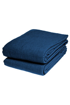 Linge Particulier Flat sheet linen - atlantic blue