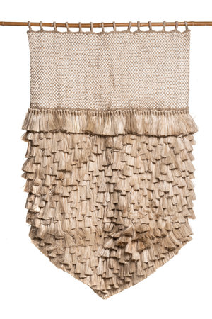 The Dharma Door Jute wall hanging with tassels
