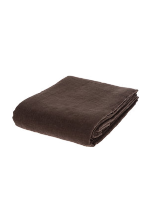 Linge Particulier Flat sheet linen - dark brown