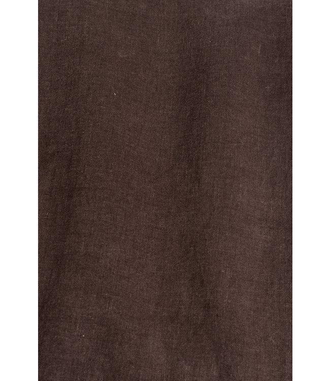Kussensloop linnen - dark brown