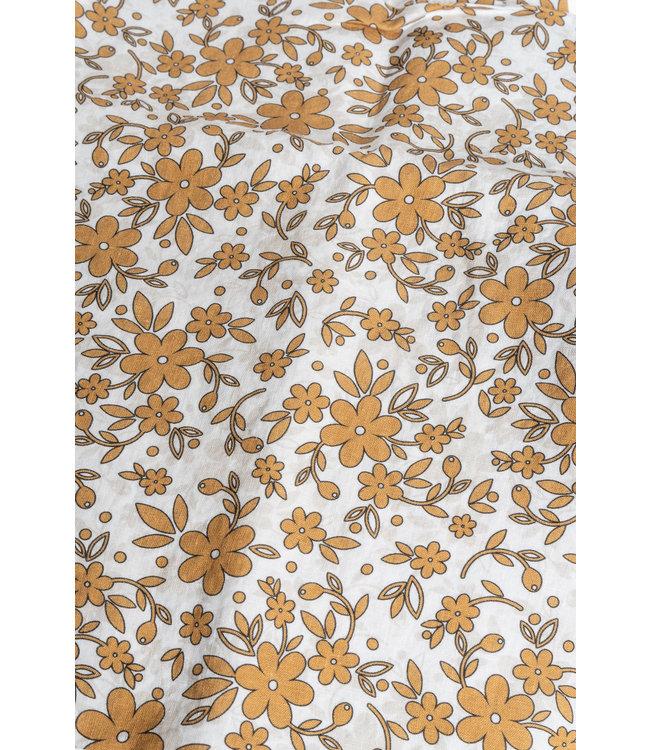 Pillow case linen - mustard flower