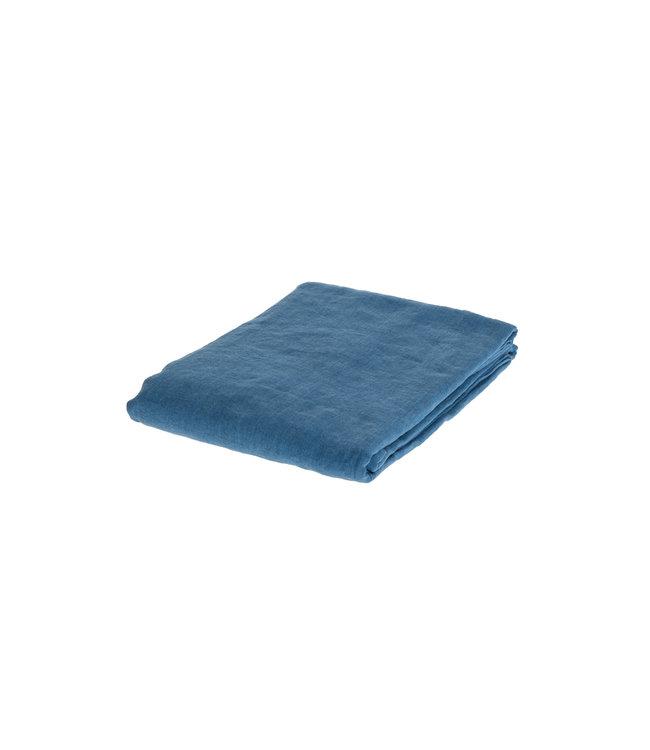 Linge Particulier Duvet cover linen - atlantic blue