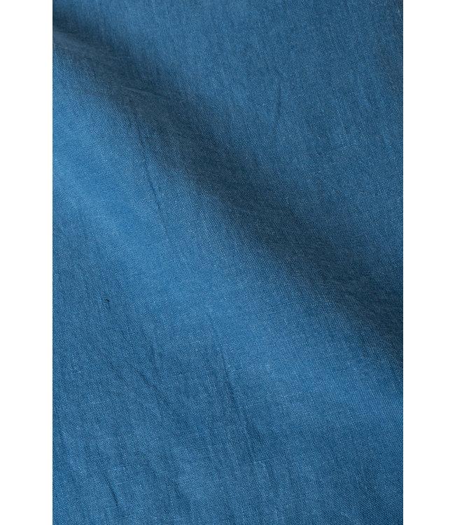 Kussensloop linnen - atlantic blue