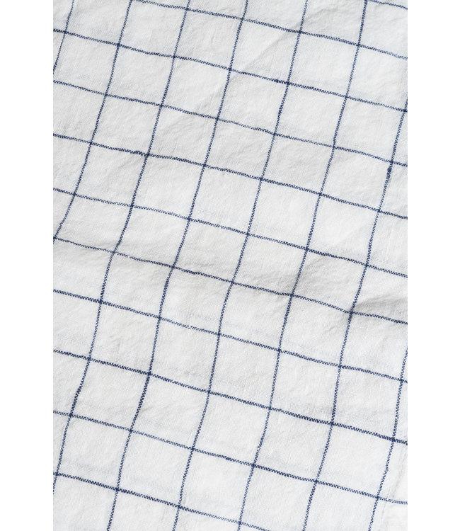 Linge Particulier Napkin linen - white navy xl checks