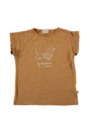 My little cozmo T-shirt kids print - caramel