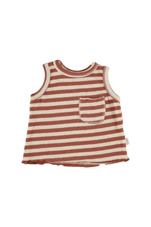 My little cozmo Top baby knit stripe - tile