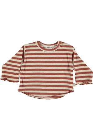 My little cozmo T-shirt baby knit stripe long sleeves - tile