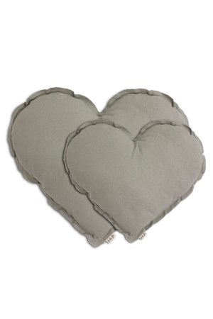 Numero 74 Heart cushion - silver grey
