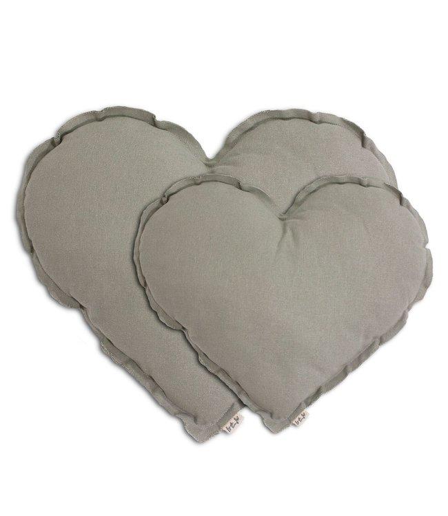 Numero 74 Hart kussen - silver grey