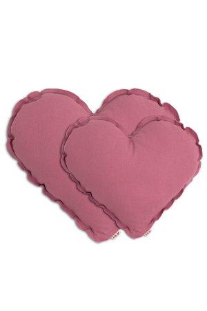 Numero 74 Heart cushion - baobab rose