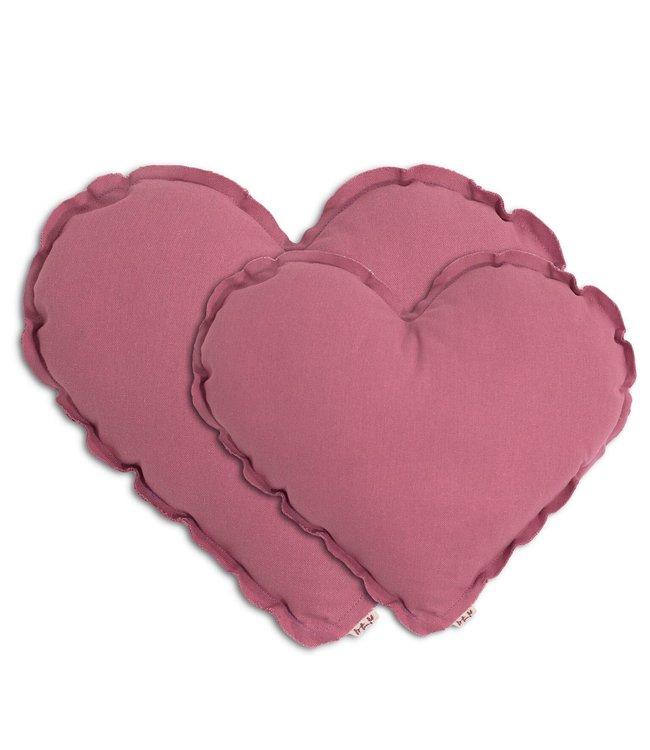 Heart cushion - baobab rose
