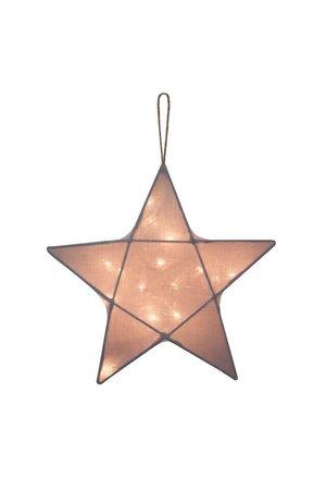 Numero 74 Star lantern medium - stone grey