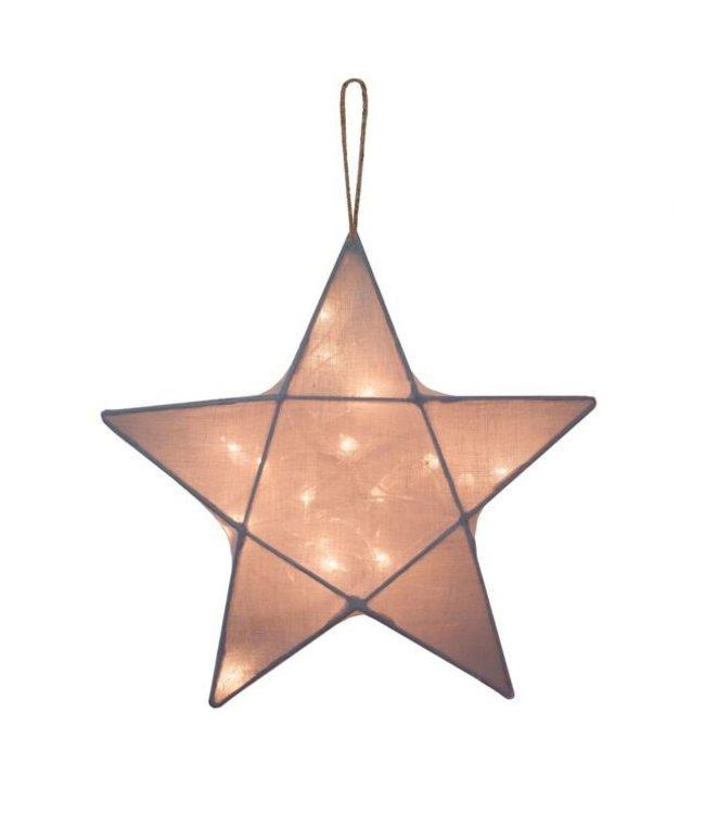 Star lantern medium - stone grey