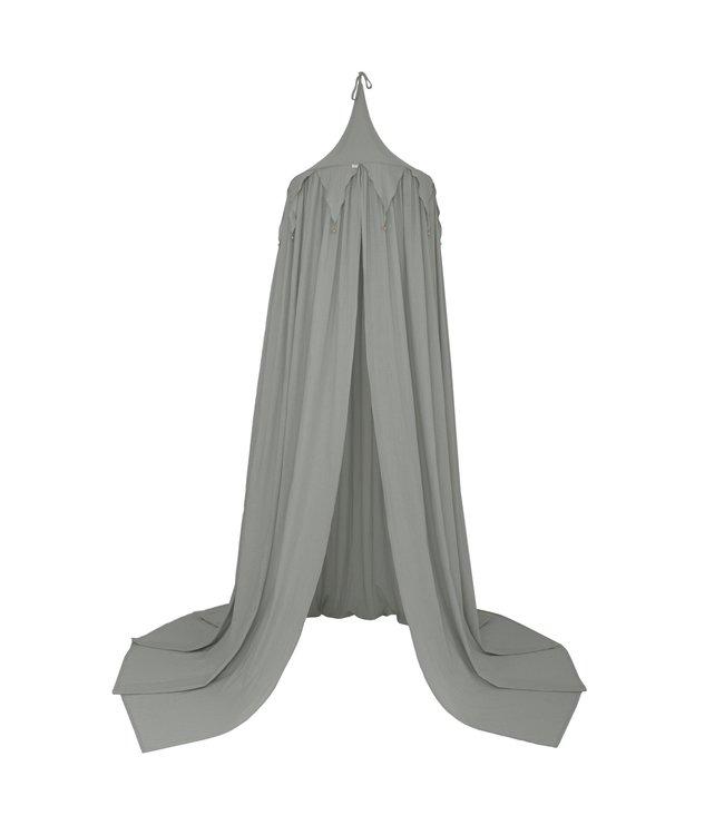 Circus bunting bedhemel - silver grey