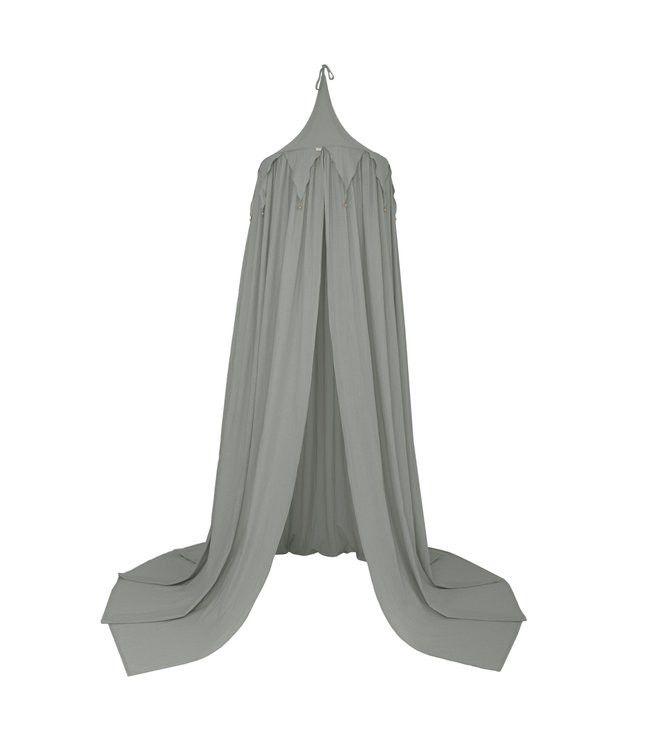 Circus bunting canopy - silver grey