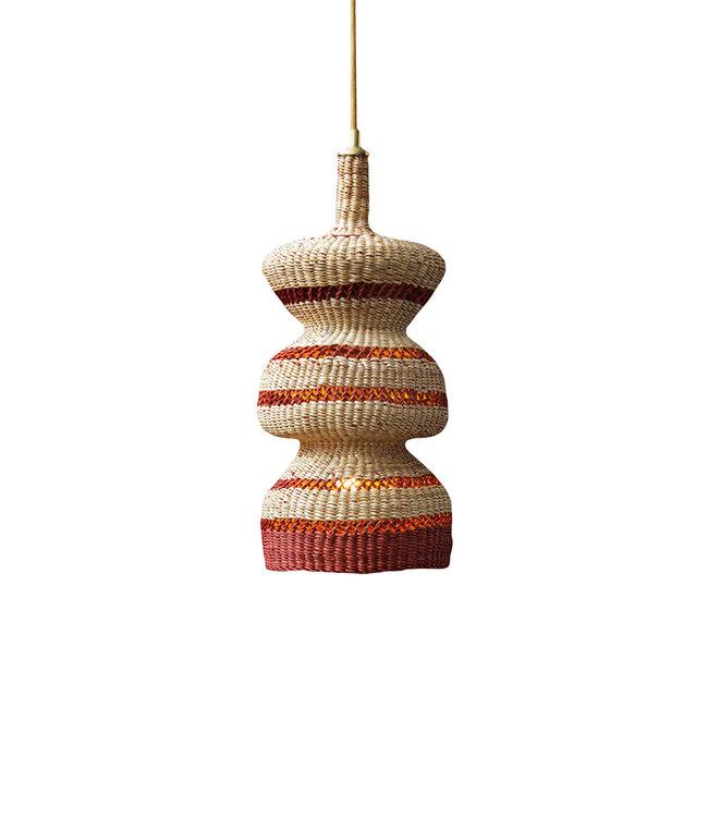 Hanging lamp '3 tier' - natural/ginger