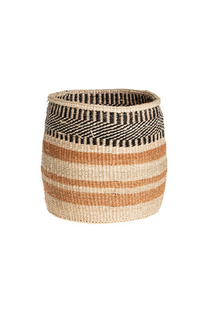 Couleur Locale Sisal basket - earth colors  #15