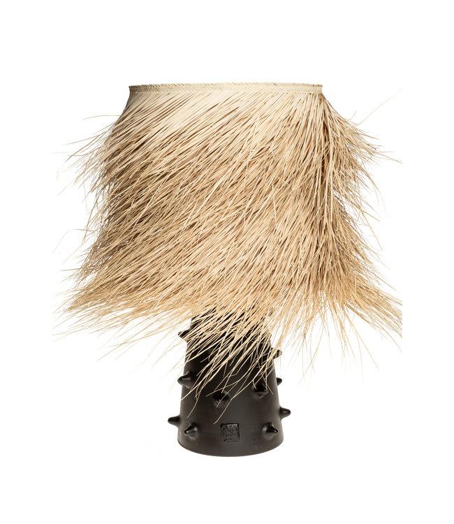 Black table lamp n°2 palm