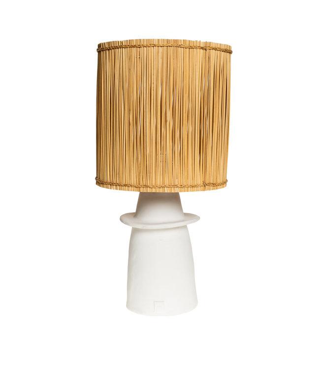 White table lamp n°1 reed