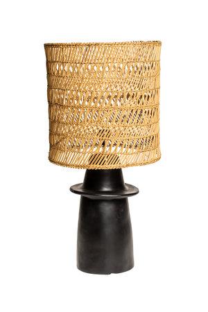 Rock The Kasbah Zwarte tafellamp n°1 gevlochten riet