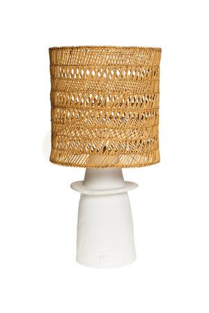 Rock The Kasbah Witte tafellamp n°1 gevlochten riet
