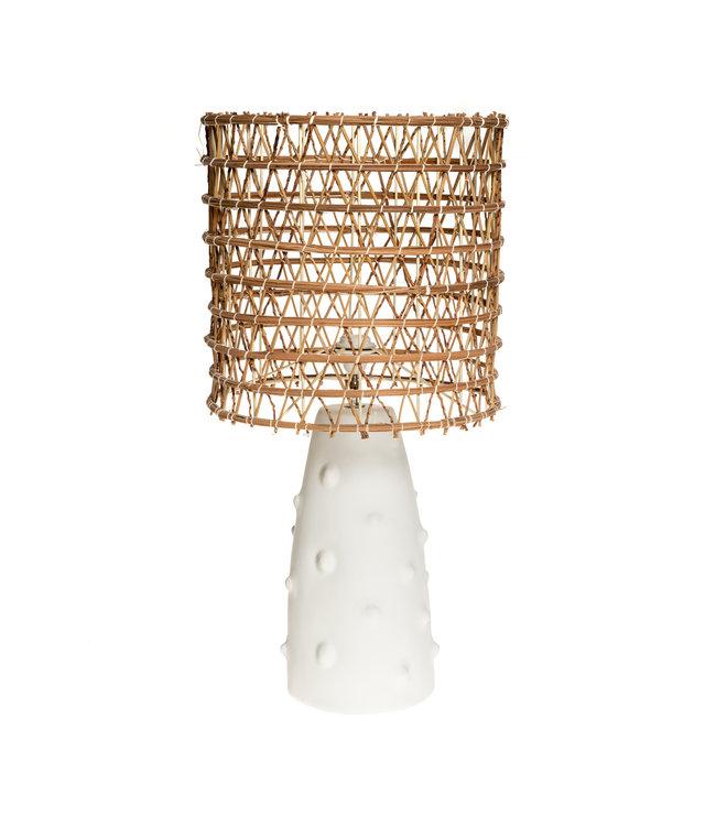 Witte tafellamp n°2 dadelpalm