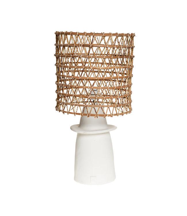 Witte tafellamp n°1 dadelpalm