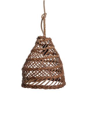 Hanglamp 'Cag' zeegras - noisette