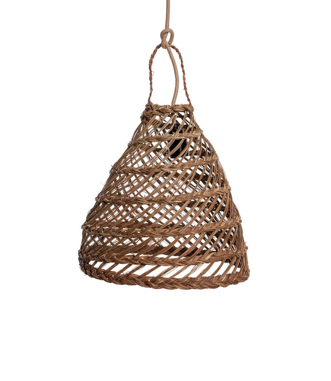 Hanging lamp 'Cag' seagrass - noisette