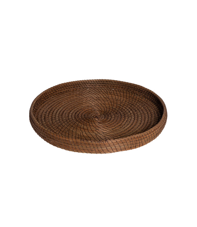 Plate ' noisette' sea grass