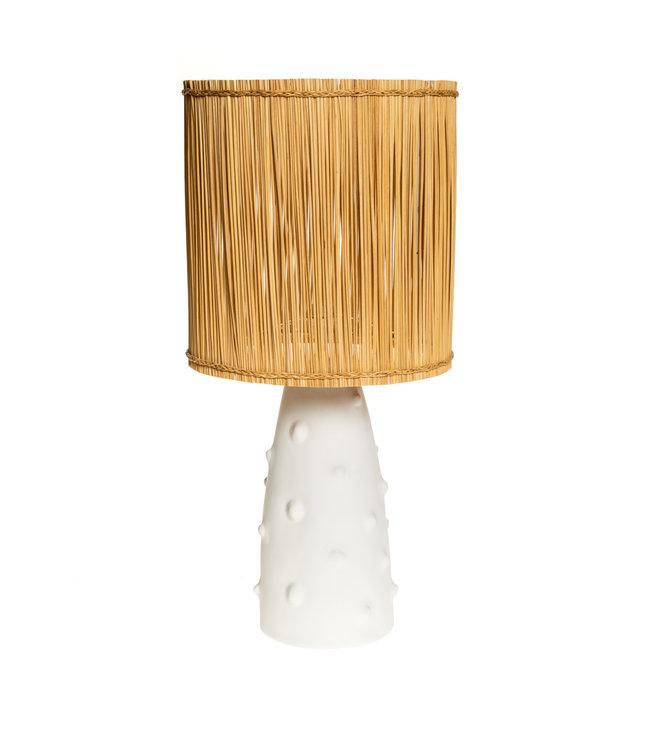 Witte tafellamp n°2 riet