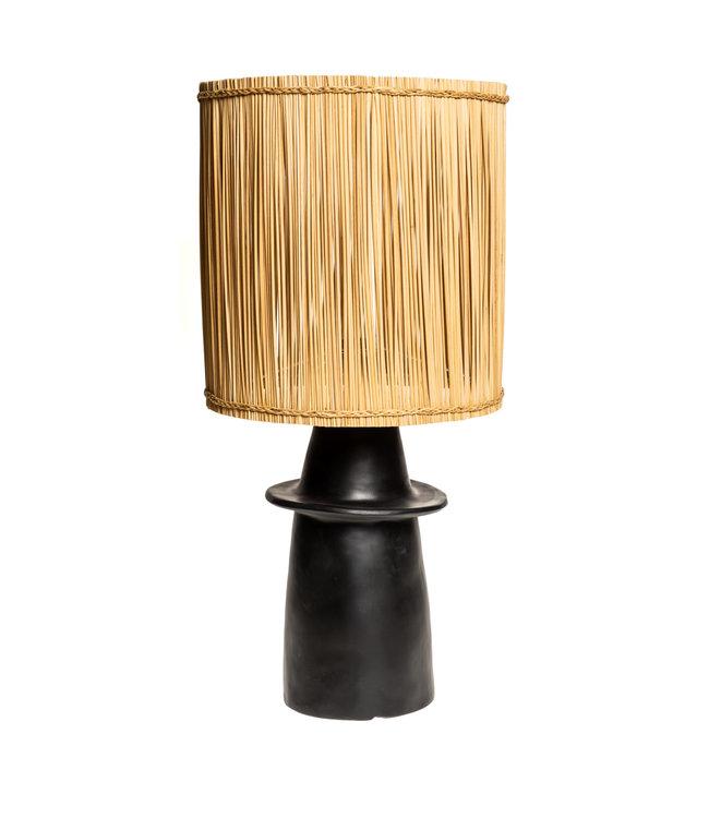 Zwarte tafellamp n°2 riet