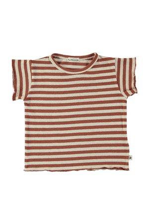 My little cozmo T-shirt baby knit stripe - tile