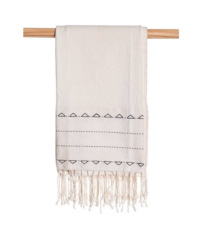Hand embroidered fouta