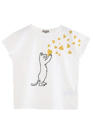 Emile et ida Tee shirt  - chat coeur