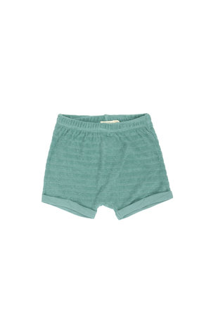 Phil & Phae Striped frotté short - sea glass