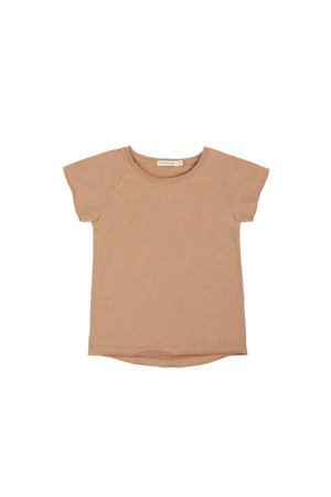 Phil & Phae Raglan tee with short sleeves - sienna  sand