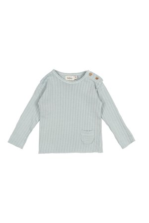 Buho Paris rib t-shirt - misty blue