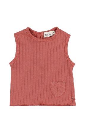 Buho Sidney rib T-shirt - brick