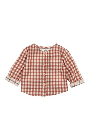 Buho Alex double check shirt - vichy brick