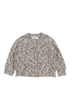 Buho Dani knit cotton flamé cardigan - grey melange