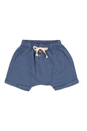 Buho Lucas cotton short pant - indigo