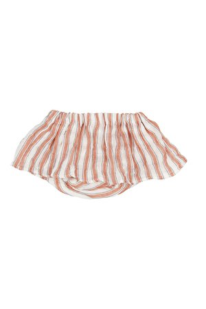 Buho Goldie stripes skirt with culotte - brick