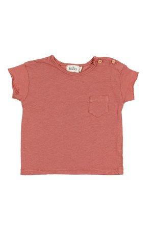 Buho Cedric linen t-shirt - brick