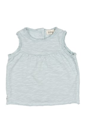 Buho Isabelle cotton flamé t-shirt - misty blue