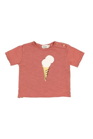 Buho Cesar ice cream t-shirt - brick