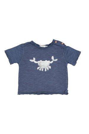 Buho Cesar crab t-shirt - indigo